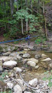 Ueberquerung des Bachs zwischen Hochgrat und Imberg