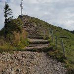 Blick zum Gipfel des Hochgrats