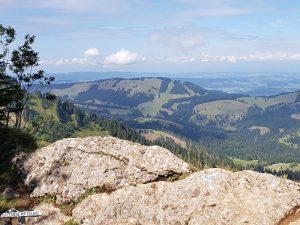 Ausblick vom Wanderweg auf den Imberggipfel
