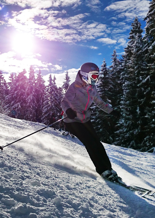 Frau Skifahren Skiarena Steibis