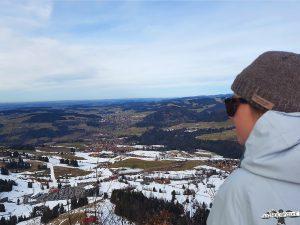 Gipfel Imberg mit Blick auf Oberstaufen