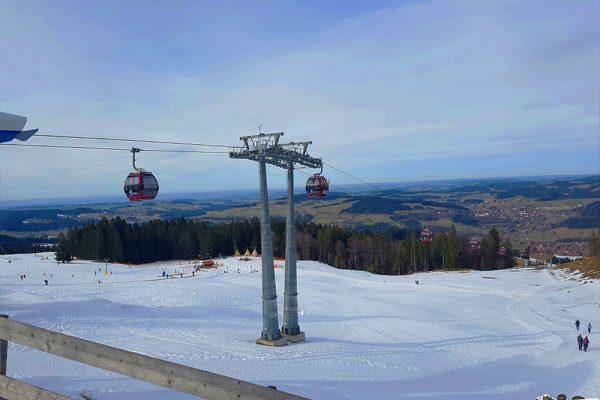 Blick von der Imbergbahn auf Oberstaufen und Steibis