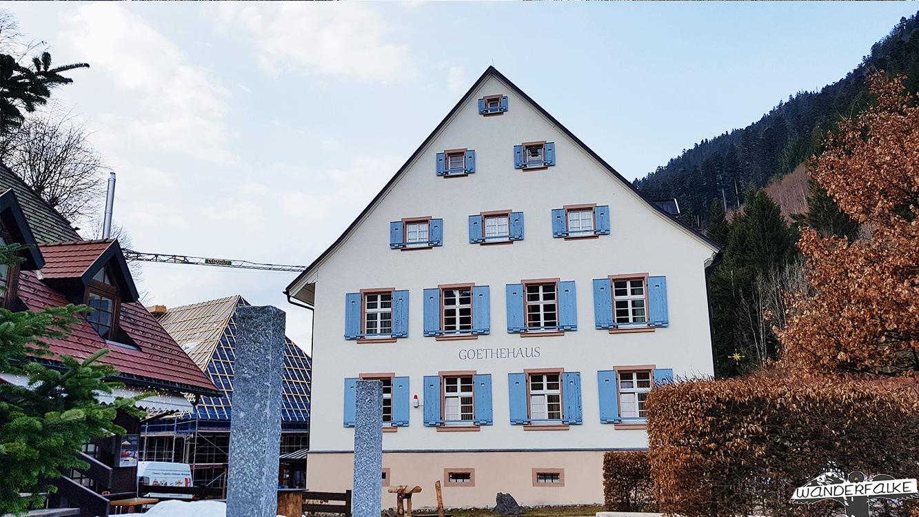 Goethehaus in Höllsteig Ravennaschlucht