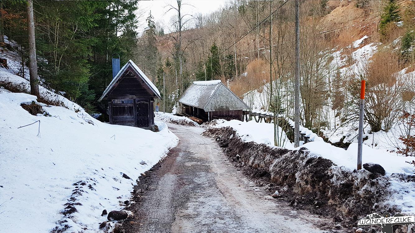 Klingenhofsäge im Schnee bei Höllsteig Hinterzarten
