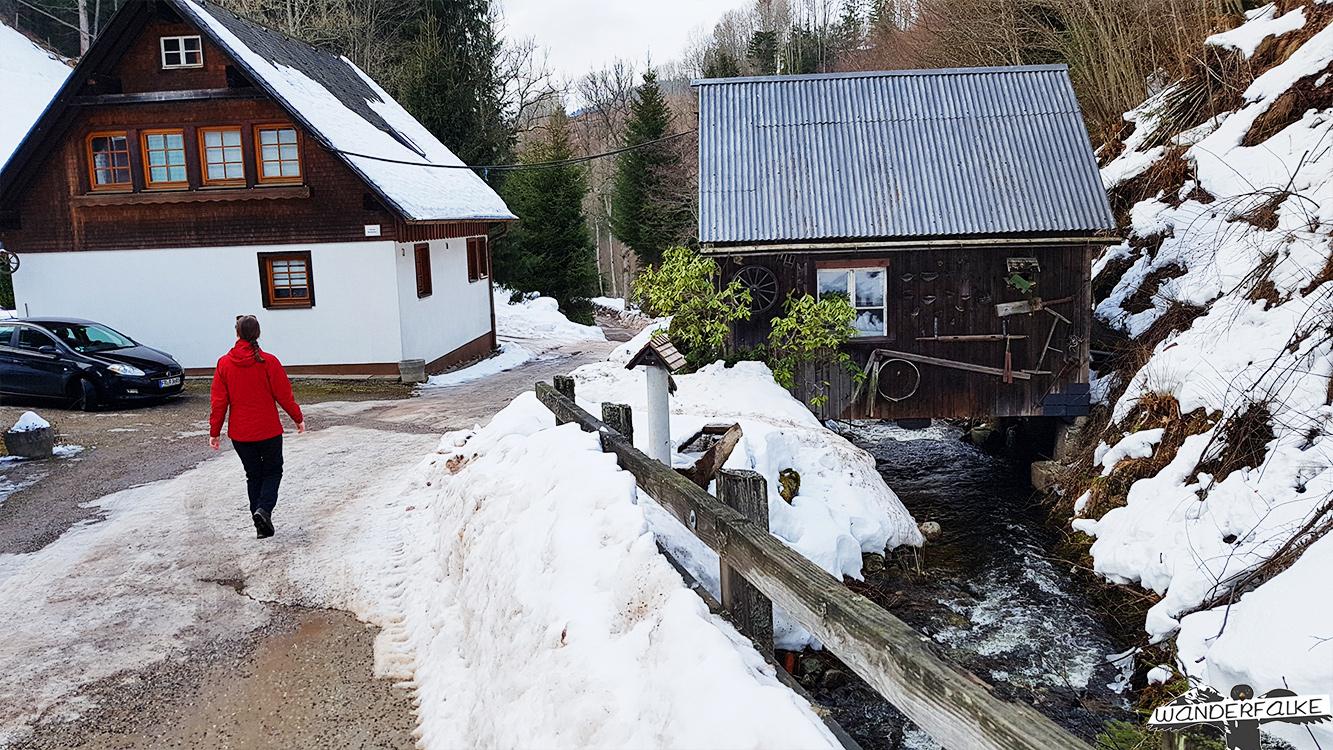 Hinterzarten Löffeltal bei Schnee