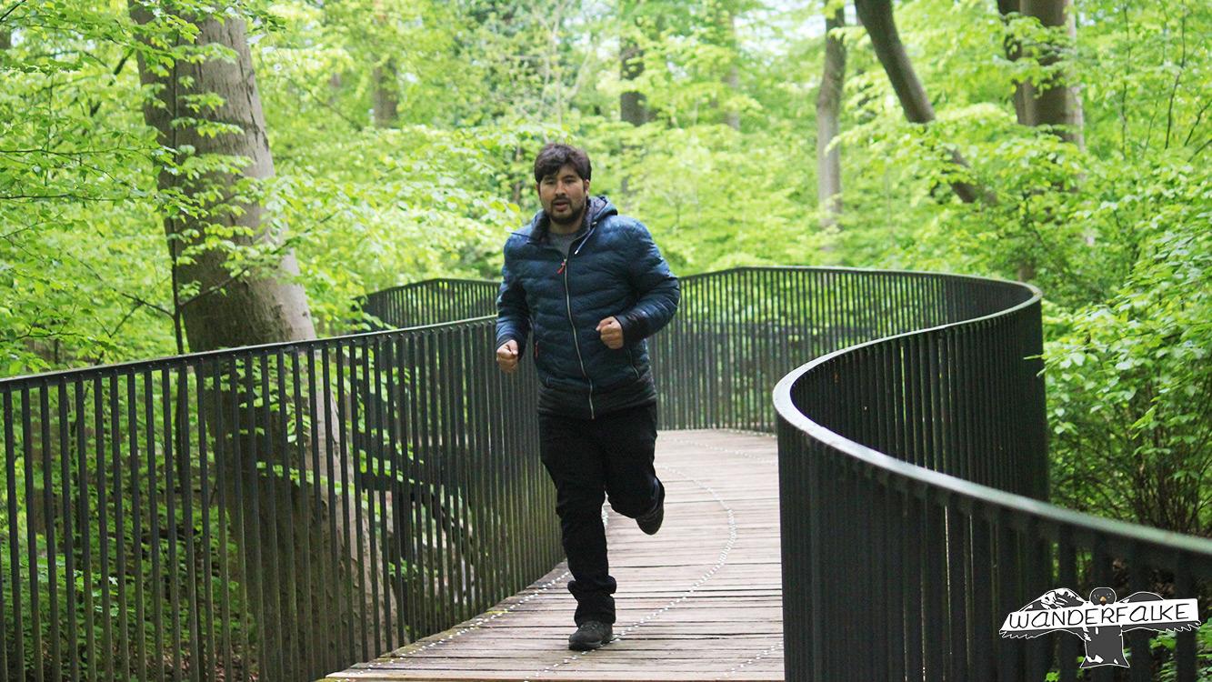 Felsenmeer Hemer Wanderfalke Wandern Härtetest Maier Sports