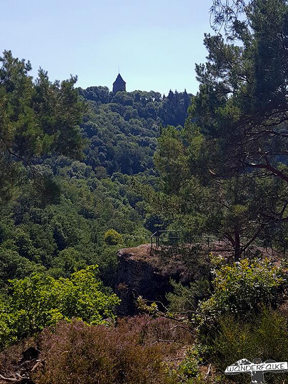 Aussicht Burg Nideggen Buntsandsteinroute Nordeifel