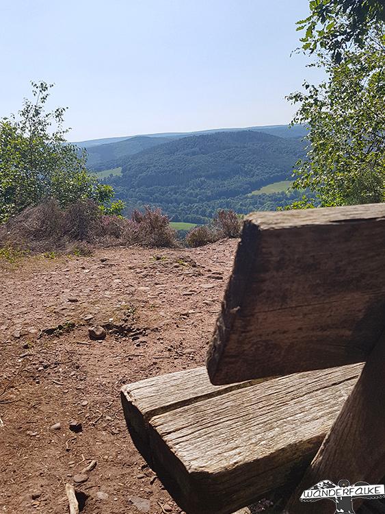 Buntsandsteinroute Nordeifel Blick über das Rurtal