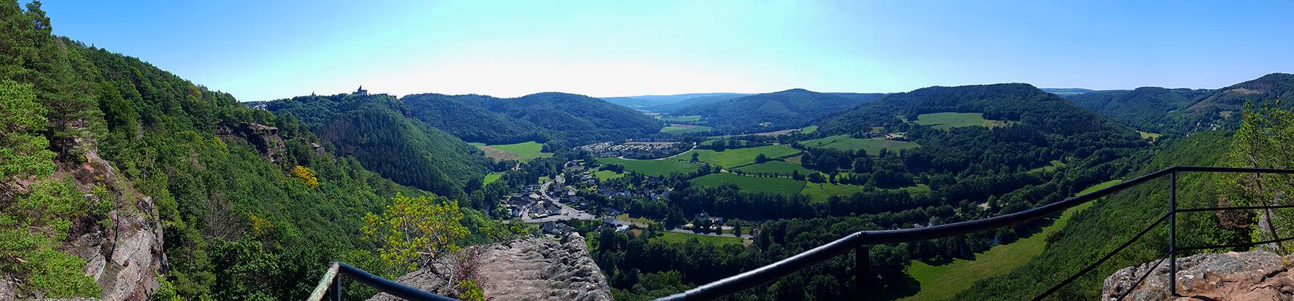 Buntsandsteinroute Eifel Nideggen Burg Aussicht Nationalpark Eifel