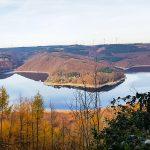 Aussicht Hirschley Buntsandsteinroute Wanderweg Rursee Obersee Nationalpark Eifel