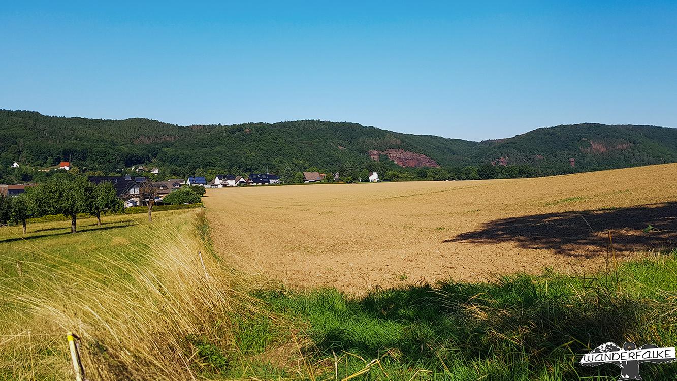 Bundsandsteinwand Lübbenau Nationalpark Eifel Buntsandsteinroute Nordeifel