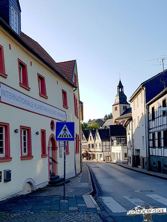 Innenstadt Heimbach Buntsandsteinroute Nordeifel Wanderweg Wandern Nationalpark Eifel