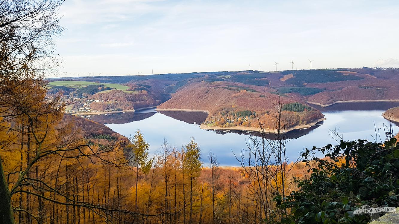 Aussicht Hirschley Nationalpark Eifel Buntsandsteinroute Nordeifel Wandern
