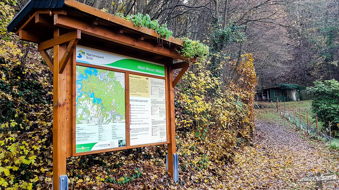 Nationalpark Eifel Informationstafel Buntsandsteinroute Wildnistrail Wanderweg