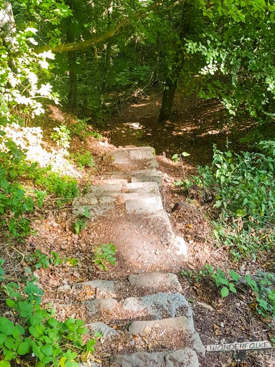 Ab in die Schlucht Felsenweg Teufelsschlucht Ernzen Echternach NaturWanderPark delux Wanderfalkeonline wandern