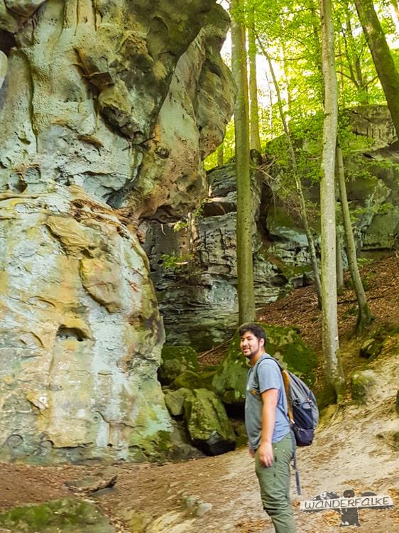 Felsenweg Teufelsschlucht Ernzen Echternach NaturWanderPark delux Wanderfalkeonline wandern