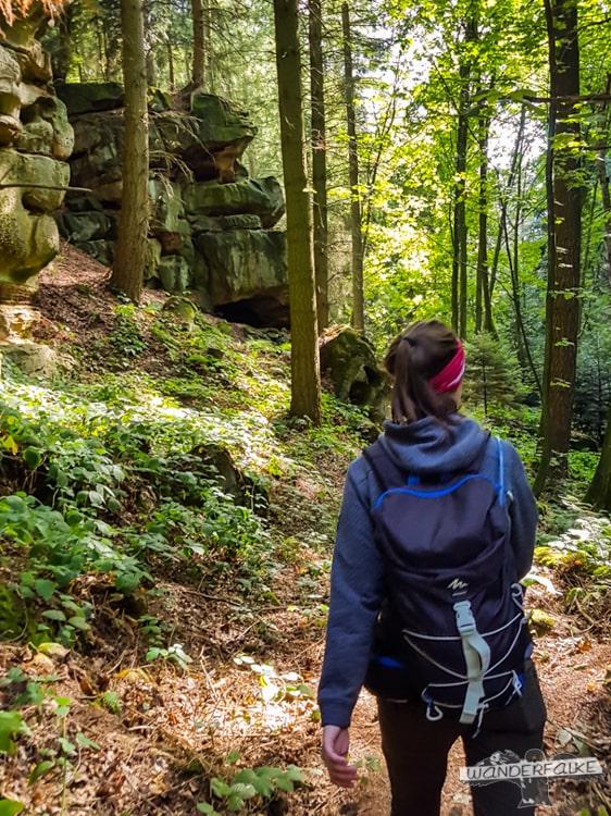 Naturschutzgebiet Felsenweg Teufelsschlucht Ernzen Echternach NaturWanderPark delux Wanderfalkeonline wandern