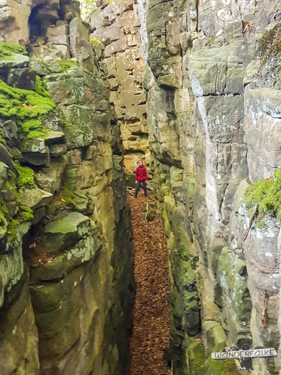 Teufelsspalte Felsenweg Teufelsschlucht Ernzen Echternach NaturWanderPark delux Wanderfalkeonline wandern