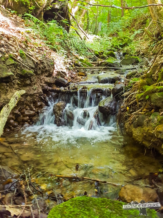 Wasserfall Felsenweg Teufelsschlucht Ernzen Echternach NaturWanderPark delux Wanderfalkeonline wandern