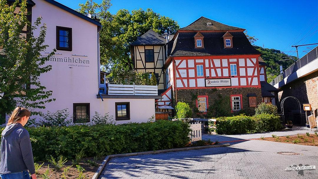 Fondels Mühle - Restaurant am Mittelrhein Klettersteig in Boppard