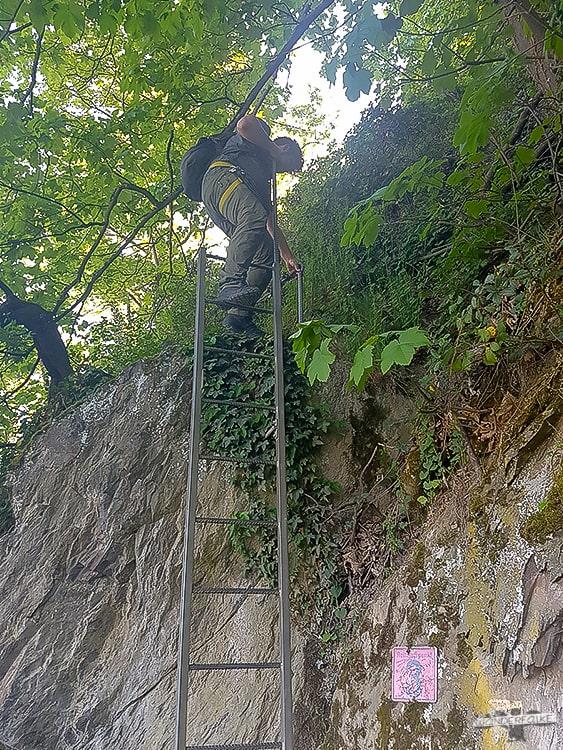 Mittelrhein Klettersteig Kletterelement 3