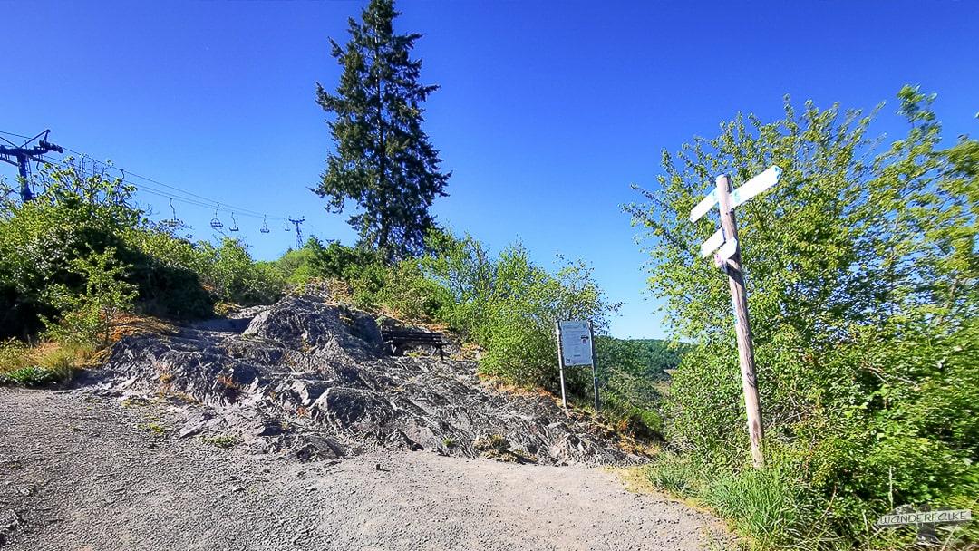 Mittelrhein Klettersteig Traumschleife Startpunkt Abzweigung