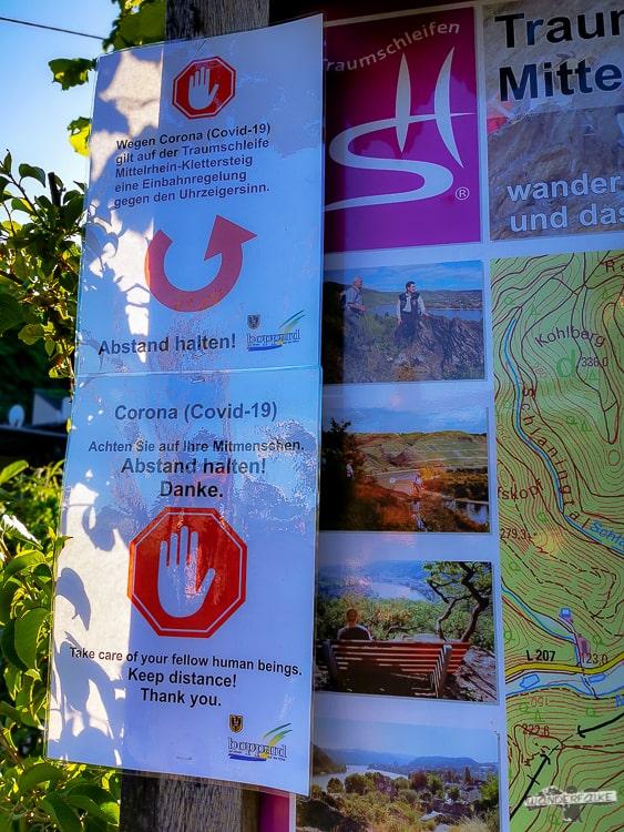 Mittelrhein Klettersteig Traumschleife Startpunkt Wanderwegübersicht