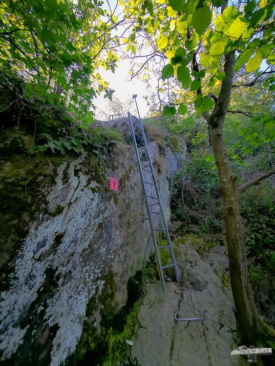 Mittelrhein Klettersteig Traumschleife erste Leiter
