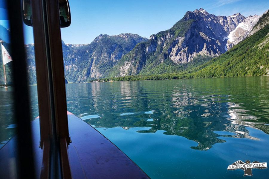 Bootsfahrt auf dem Königssee Echowand
