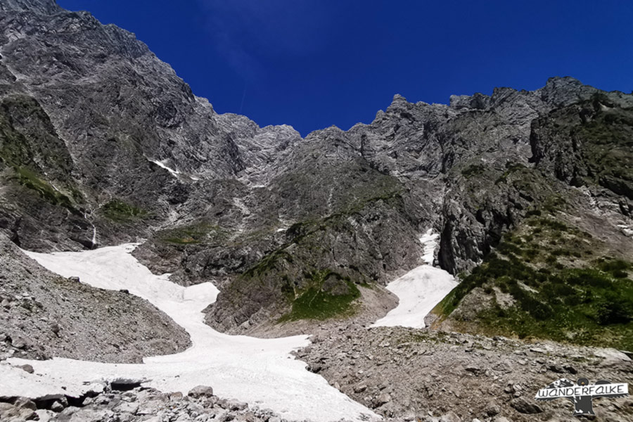 Watzmann-Ostwand mit Eiskapelle