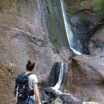 Wasserfall am Ende der Wolfsschlucht