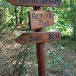 Wegweiser zur Wolfsschlucht Brohl Kurfürstenweg