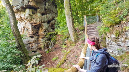 Blick auf Felsenkanzel Felsenweg 6 NaturWanderpark delux Teufelsschlucht Ernzen Echternach