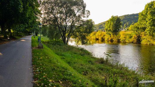 Echternach Flusspromenade Sauer Luxemburg