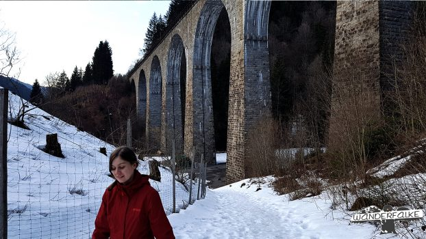 Ravenna Viadukt Wandern Wanderfalke Maier Sports Härtetest Ravennaschlucht